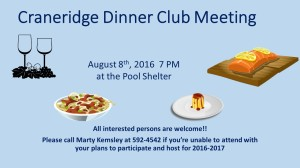 Craneridge Dinner Club Meeting